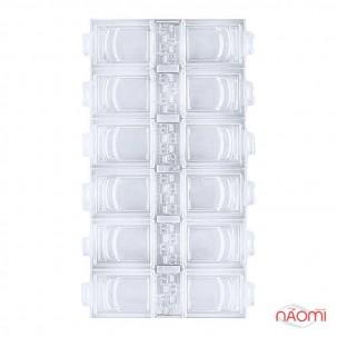 Контейнер для декора, прямоугольный на 12 секций, цвет белый