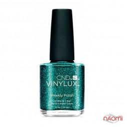 Лак CND Vinylux Weekly Polish 234 Emerald Light зеленый, с блестками, 15 мл