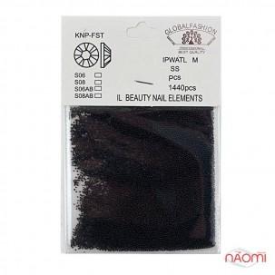 Бульонки для декорування нігтів Global Fashion пластикові, колір чорний, в пакеті