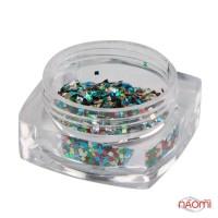 Декор для ногтей Salon Professional квадратики, цвет ассорти