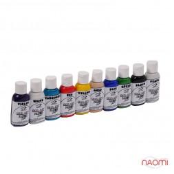 Набор акриловых красок для аэрографа, Premium, Water series в наборе 10 цветов 30 мл