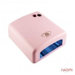 УФ лампа для ногтей 36W Global Fashion 818, таймер на 120 сек. и режим бесконечности, цвет розовый