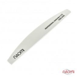 Пилка для ногтей Naomi 100/240 полукруг, цвет белый