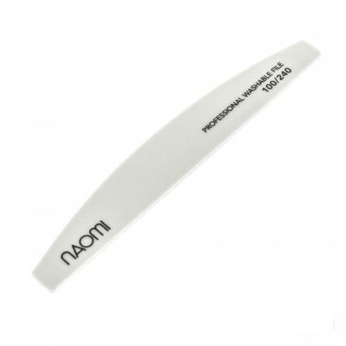 Пилка для ногтей Naomi 100/240 полукруг, цвет белый, фото 1, 30.00 грн.