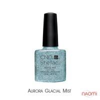 CND Shellac Aurora Glacial Mist бирюзово-голубой с глиттером , 7,3 мл