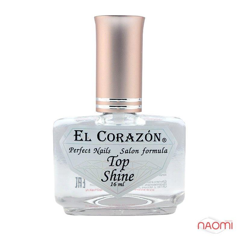 Топ для лака El Corazon Top Shine №410 Кристальный блеск, 16 мл, фото 1, 105.00 грн.