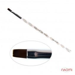 Пензель для гелю YRE Nail Art Bruch YKGK 06, прямий, штучний ворс, кручена ручка