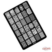 Пластина пластикова для стемпінга Kodi Professional XY-К 11, 9,5х14,5 см