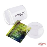 Односторонний силиконовый штамп и скрапер для стемпинга El Corazon № K-sst-14, прозрачный