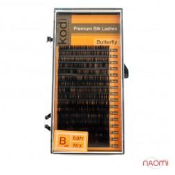 Ресницы Kodi professional Butterfly B 0.07 (16 рядов: 8,9,10,12,13,14 мм), черные