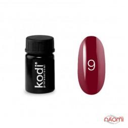 Гель-фарба Kodi Professional 09, колір вишневий з шимерами, 4 мл