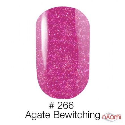Гель-лак Naomi 266  Agate Bewitching яркая фуксия с серебристыми шиммерами, 6 мл, фото 1, 95.00 грн.