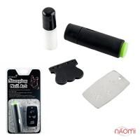 Набір для стемпінга KONAD Promotion kit, штамп, скрапер, пластина і лак
