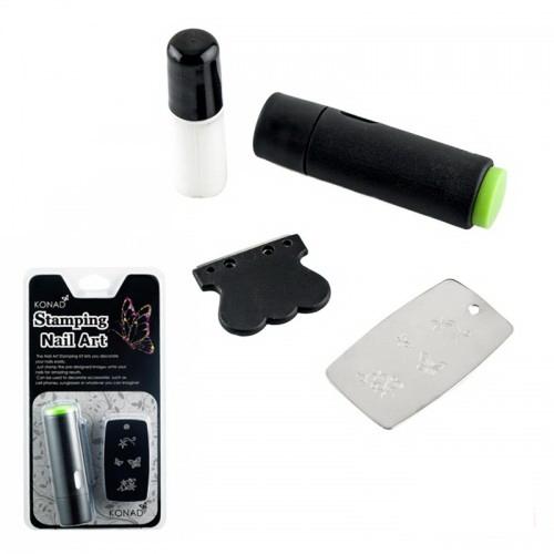 Набор для стемпинга KONAD Promotion kit, штамп, скрапер, пластина и лак, фото 1, 120.00 грн.