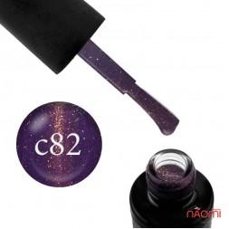 Гель-лак Naomi Cat Eyes С82 фиолетовый с бликом, 6 мл