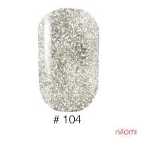 Гель-лак Naomi Gel Polish 104 серебро с шиммерами, 12 мл