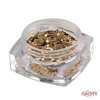 Декор для ногтей Salon Professional квадратики, цвет золото