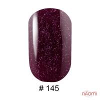 Гель-лак G.La color 145 бордово-фиолетовый с розовыми шиммерами, 10 мл