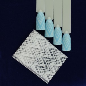 Фольга для ногтей голографическая 003, зигзаги,  L= 0,2 м ширина 3 см