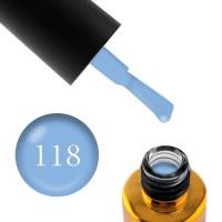 Гель-лак F.O.X Pigment 118 небесно-голубой, 6 мл