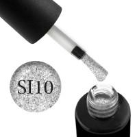 Гель-лак Naomi Self Illuminated SI 10 серебристый с блестками и слюдой, 6 мл