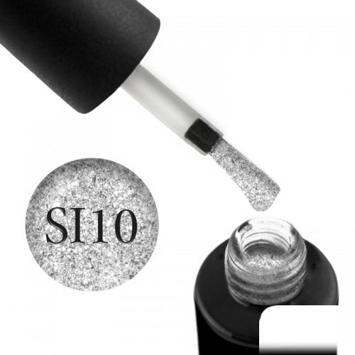 Гель-лак Naomi Self Illuminated SI 10 серебристый с блестками и слюдой, 6 мл, фото 1, 95.00 грн.