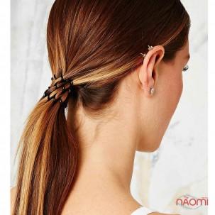 Резинка-браслет для волос Invisibobble ORIGINAL True Black, цвет черный, 30х16 см, 3 шт.