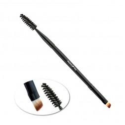Кисть для макияжа PARISA Р34, для бровей и ресниц, двухсторонняя