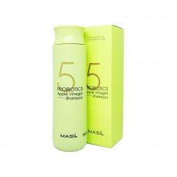 Шампунь для волосся Masil 5 Probiotics Apple Vinegar Shampoo м'який безсульфатний з пробіотиками та яблучним уксусом, 300 мл