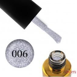 Гель-лак F.O.X Flash 006 серебристый, светоотражающий, 6 мл
