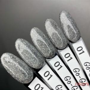 Гель-лак Elise Braun Go-Go 001, сяюче срібло, світловідбиваючий, 7 мл