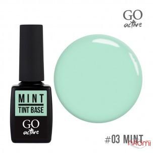 База цветная GO Active Tint Base 03 Mint, мятная пастель, 10 мл