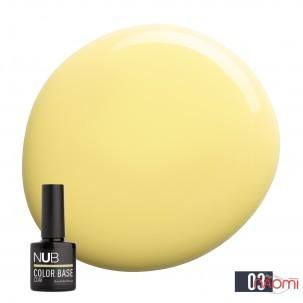 База цветная каучуковая NUB Color Base Coat 03 Melon, дынно-желтый, 8 мл