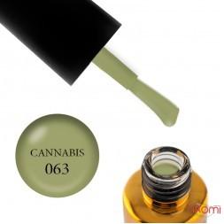 Гель-лак F.O.X Spectrum Gel Vinyl 063 Cannabis, зелений хакі, 7 мл