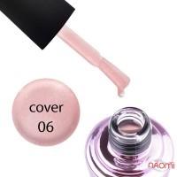 База камуфлирующая для гель-лака Elise Braun Cover Base Coat №06 ярко-розовая, с шиммером, 15 мл