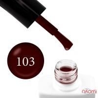 Гель-лак Nails Molekula 103 темно-бордовый, 11 мл
