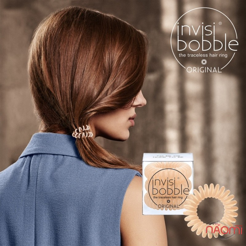 Резинка-браслет для волос Invisibobble ORIGINAL To Be or Nude to Be, цвет бежевый, 30х16 мм, 3 шт., фото 3, 139.00 грн.