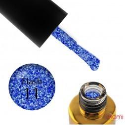 Гель-лак F.O.X Flash 011 синий, светоотражающий, 6 мл