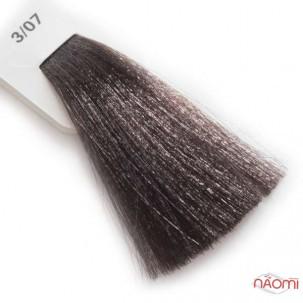Крем-краска для волос Lisap LK Creamcolor OPC 3/07, темный шатен натуральный бежевый, 100 мл