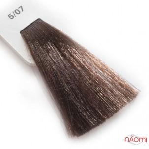 Крем-краска для волос Lisap LK Creamcolor OPC 5/07, светлый шатен натуральный бежевый, 100 мл