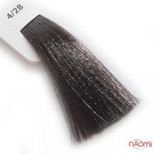 Крем-краска для волос Lisap LK Creamcolor OPC 4/28, шатен жемчужно-пепельный, 100 мл