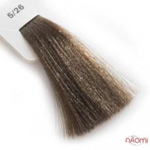 Крем-краска для волос Lisap LK Creamcolor OPC 5/26, светлый шатен пепельно-медный, 100 мл