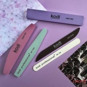 Пилка-баф для ногтей Kodi Professional 100/100 розовый, полумесяц