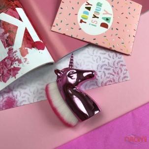 Кисть для удаления пыли, единорог, цвет розовый