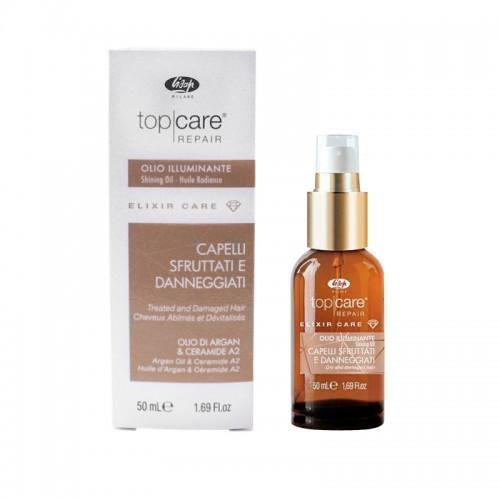 Масло Lisap Top Care Repair Elixir Care Shining Oil увлажняющее для блеска волос, 50 мл, фото 1, 480.00 грн.