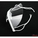 Защитная маска прозрачная косметологическая пластиковая для лица с белым фиксатором,14x6,5 см, фото 2, 38.00 грн.