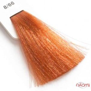 Крем-краска для волос Lisap LK Creamcolor OPC 8/66, светлый блондин медный интенсивный, 100 мл
