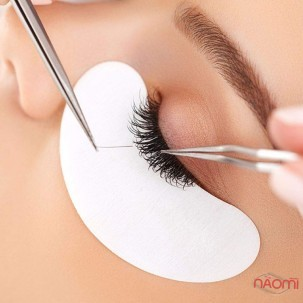 Патчи под глаза на гидрогеле Eye Gel Patches для ламинирования и наращивания в золотой упаковке
