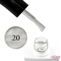 Гель-лак Nails Molekula 020 голографик серебро, 11 мл