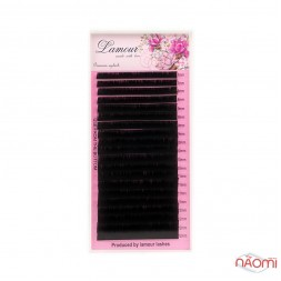 Вії Lamour L + 0,07 (20 рядків: 7-12 мм), чорні
